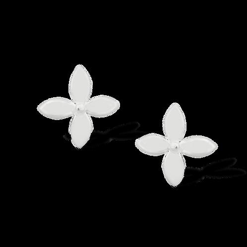 TSF Four Petal Flower Earring Studd