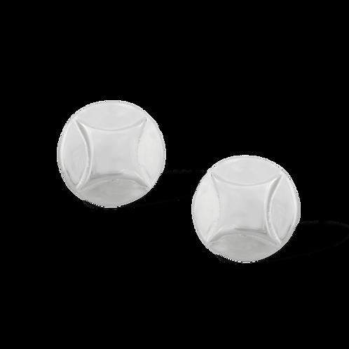 TSF Emborsed Shield Earring Studd