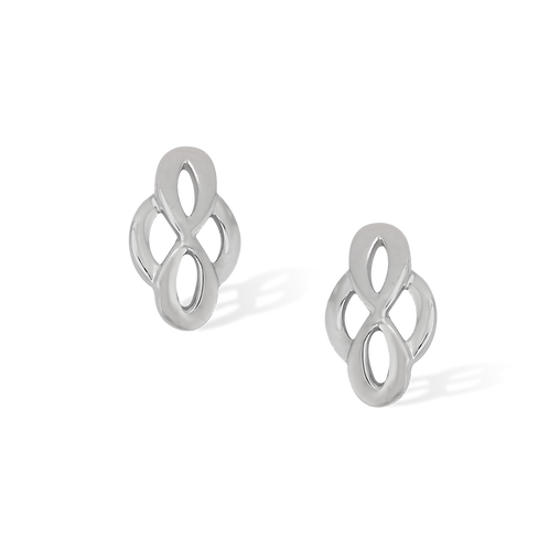 TSF Infinity & Ring Earring Studd