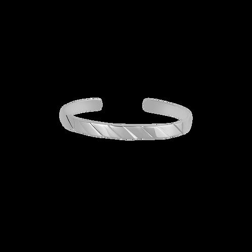 TSF Slanting Groves Cuff Bracelet