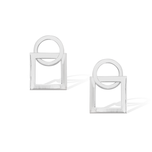 TSF Circle & Square Earrings