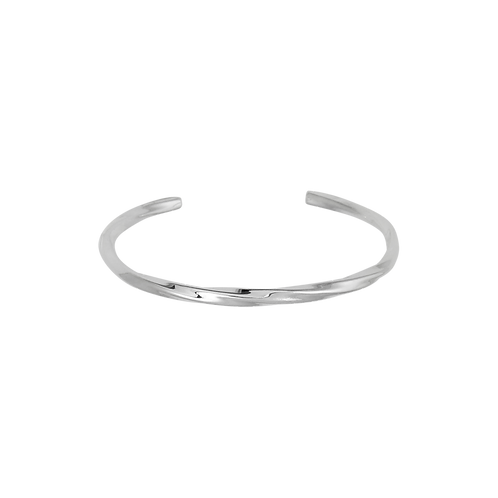 TSF Thin Twisted Cable Cuff Bracelet