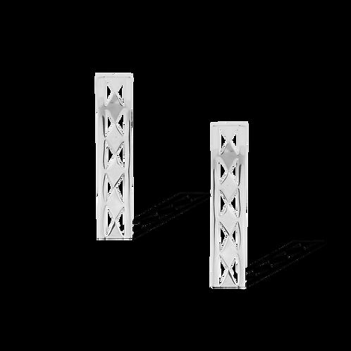 TSF Silver Web Earrings