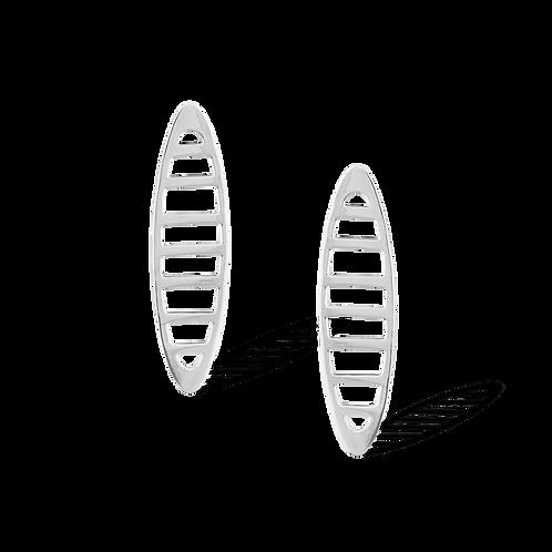 TSF Long Oval Grill Earrings