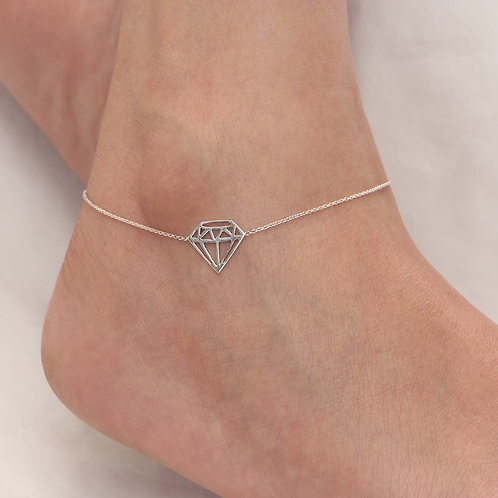 The Vector Diamond Anklet