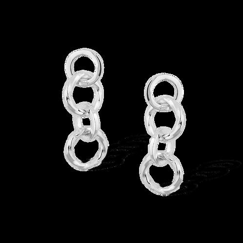 TSF Swirl & Thin Chain Earring