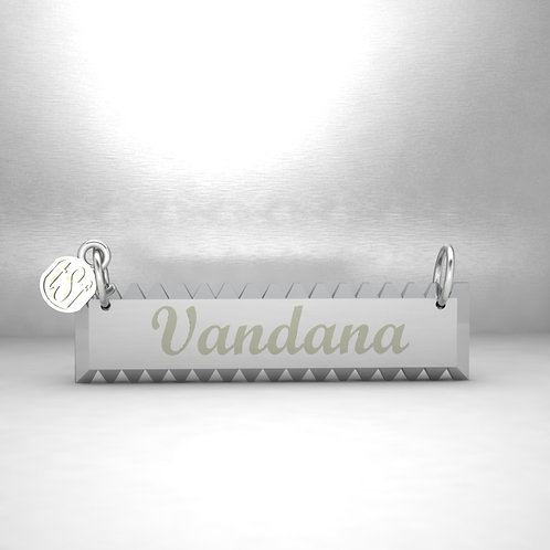 TSF Pointed Edges 925 Silver Name Necklace