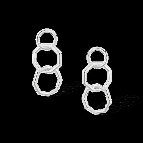 TSF Hexagonal Ring Earrings