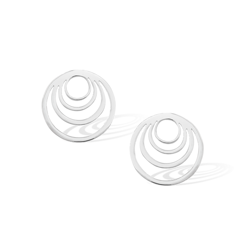 TSF Crescent Circle Earrings