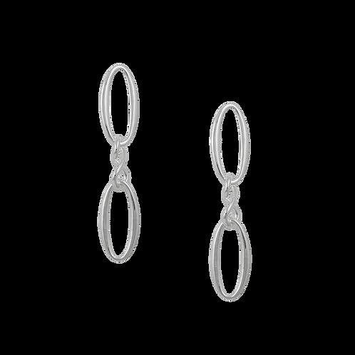 TSF Oval & Infinity Earring