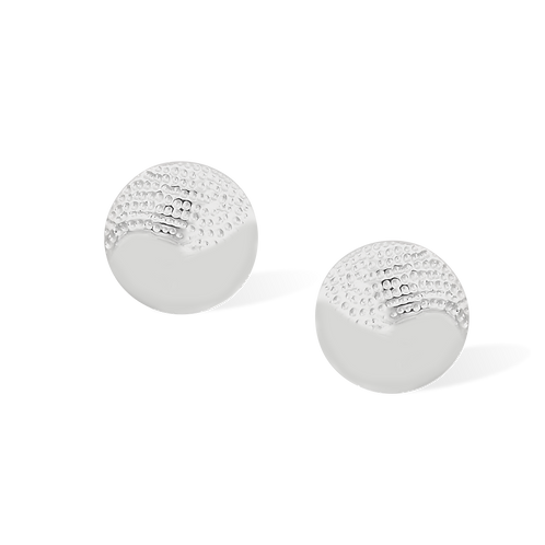 TSF Half Swirl Texture Earring Studd