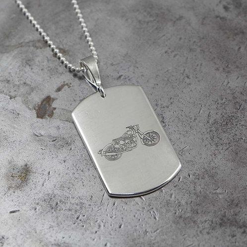 Sterling Silver Handmade Custom Engravable Dog Tag