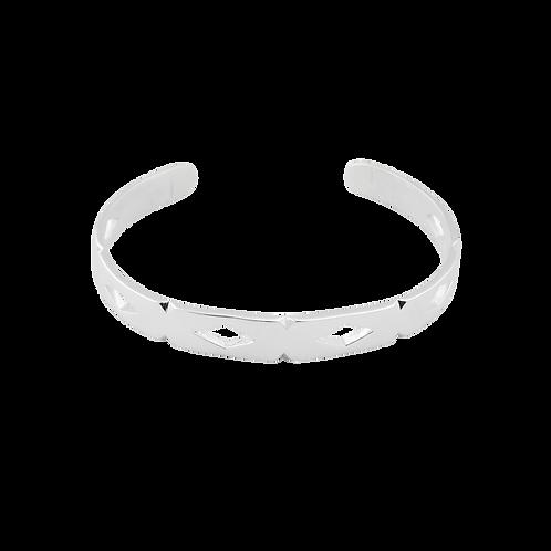 TSF Diamond Cut Cuff Bracelet