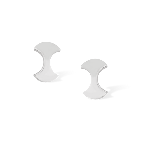 TSF Crescent Oval Earring Studd