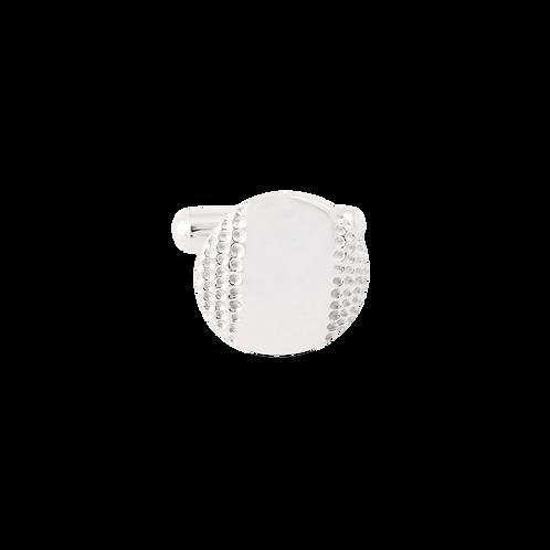 TSF Side Texture Circle Cufflink