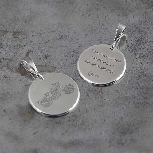 Enfield Sterling Silver Handmade Custom Engravable Pendant
