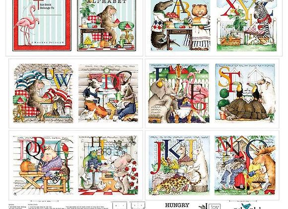 Hungry Animal Alphabet Panel by Riley Blake