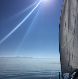 Went sailing today. Well, Samuel did the