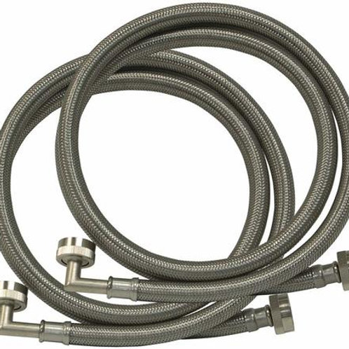 5 foot Stainless Steel Washer Inlet Hoses (Pair)