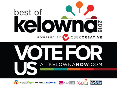 NOMINATED FOR BEST IN KELOWNA 2016