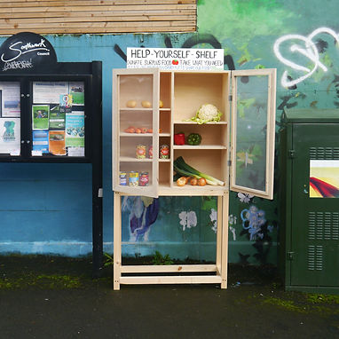 Image of a community larder in the street