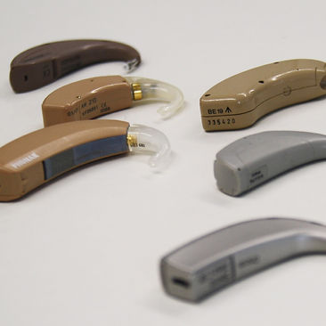 Image of a group of hearing aids
