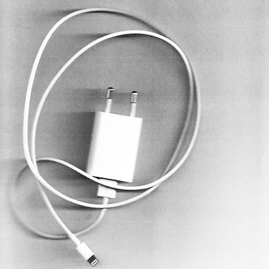 Image of a scanned phone charger