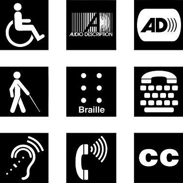 Image of a group of disability signs