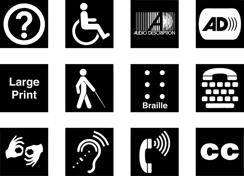 Image of a collection of disability symbols