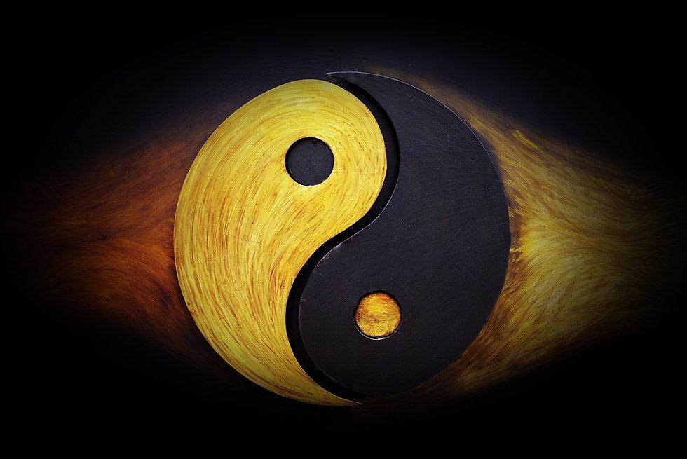 ying-yang martial arts symbol background