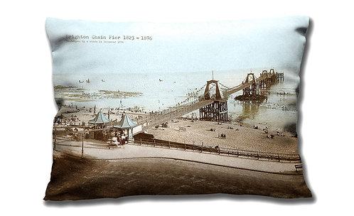 Brighton Chain Pier - Oblong Cushion
