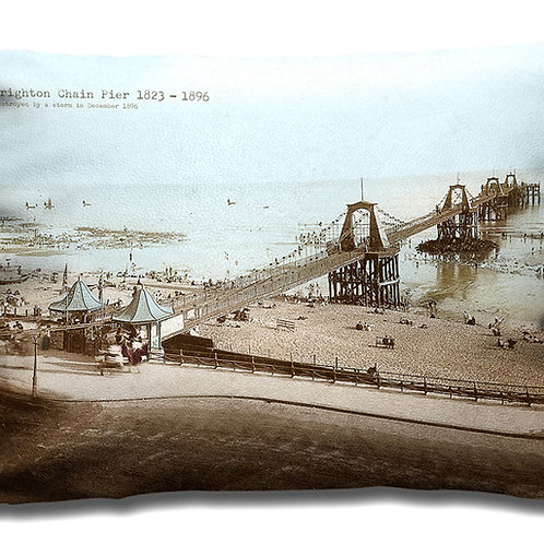 Brighton Chain Pier - Oblong Cushion
