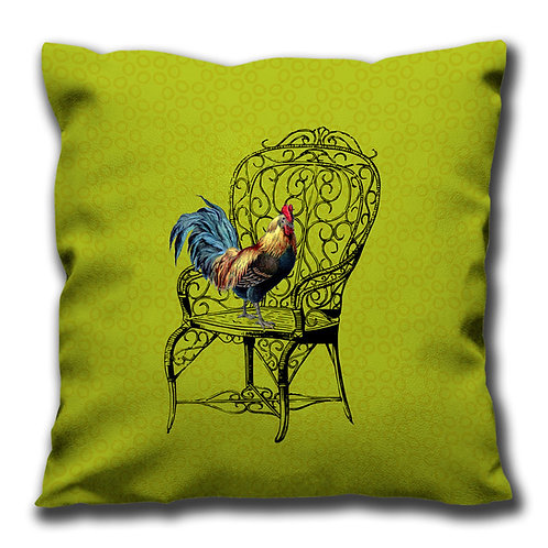Cushion - Cockerel & Chair