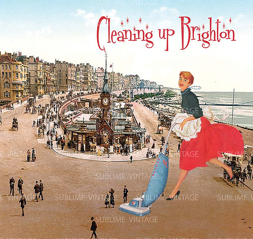 """Card SV10 """"Cleaning up Brighton"""""""