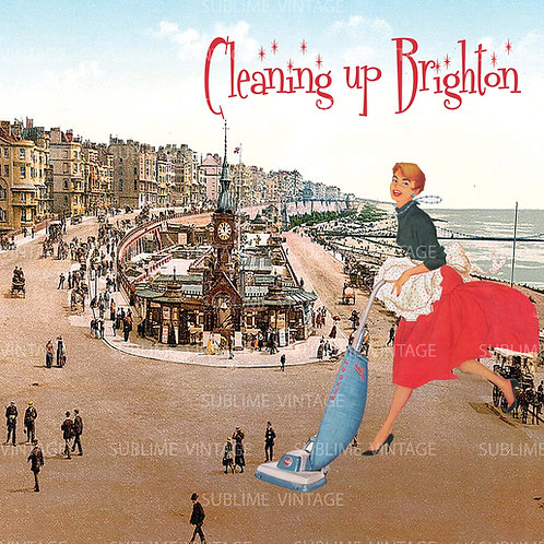 "Card SV10 ""Cleaning up Brighton"""