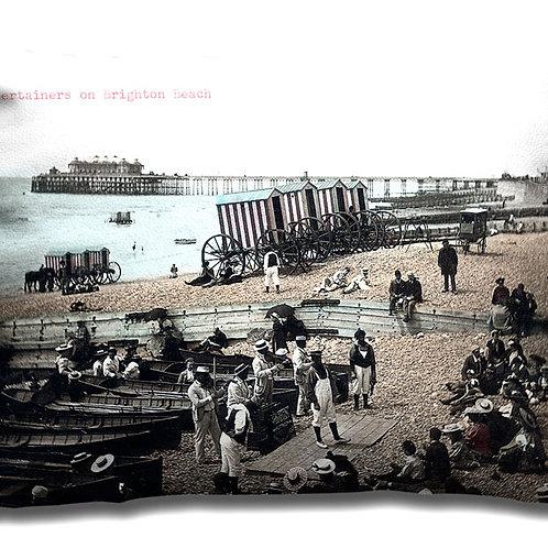 Entertainers on Brighton Beach - Cushion