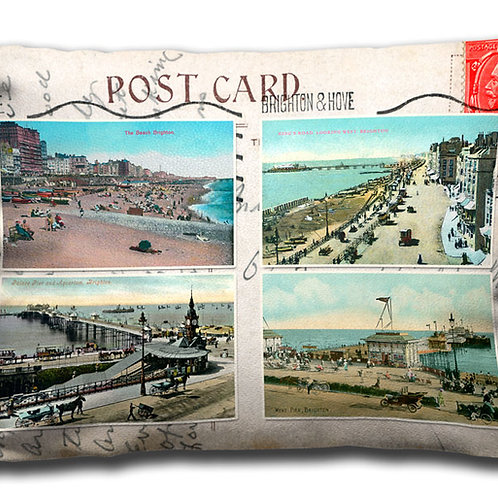 Brighton Postcard 4 pic - Oblong Cushion