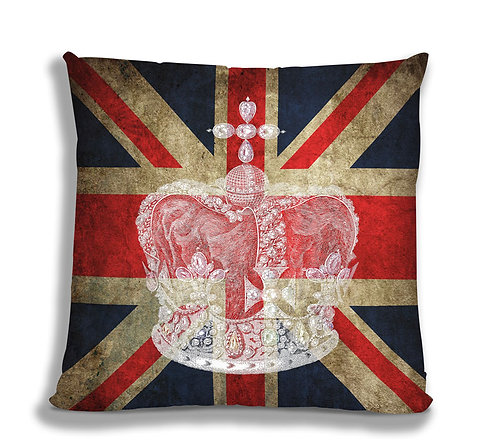 Cushion Cover - Union Jack Crown