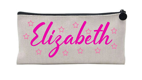 Personalised Linen pencil case