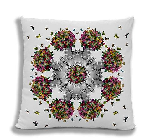 Cushion Cover: Butterfly Hair Kaleidoscope