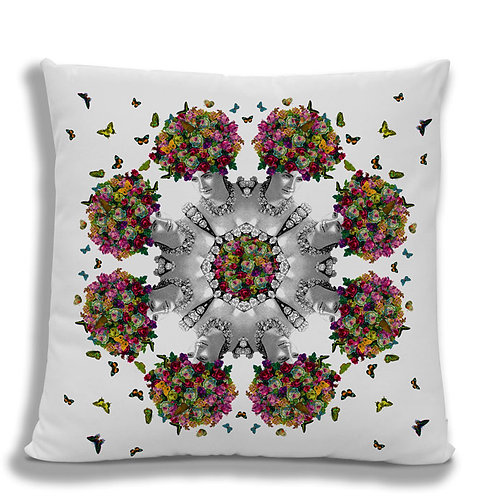Cushion Cover: Butterfly Hair Kaleidoscope