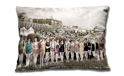 Cushion - Swimmers on Brighton Beach