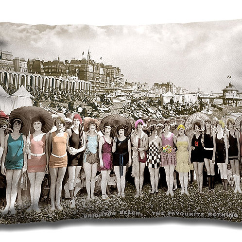 Cushion - Swimmers on Brighton Beach