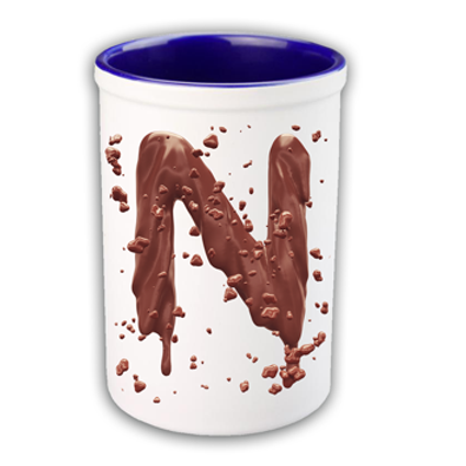Chocolate Letter Print Pen Tub