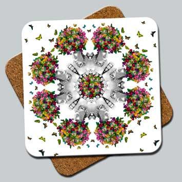 C7: Coaster, Butterfly Hair Kaleidoscope