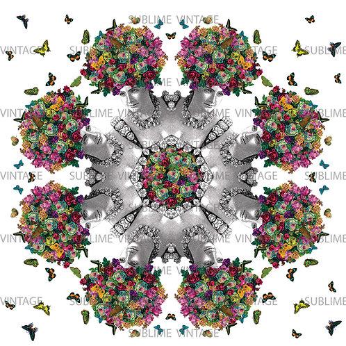 "Card SV07 ""Butterfly Hair Kaleidoscope"""