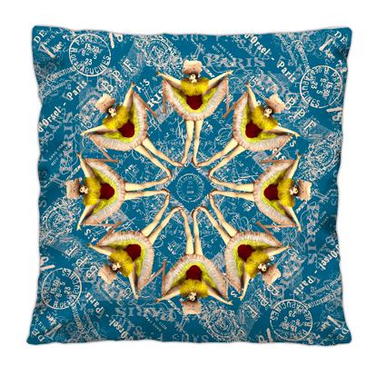 Cushion - Dancer Paris Blue