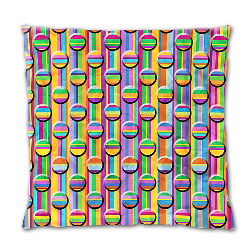 Cushion Cover - Rainbow Circles