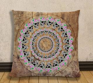 Cushion Cover - Skull circle