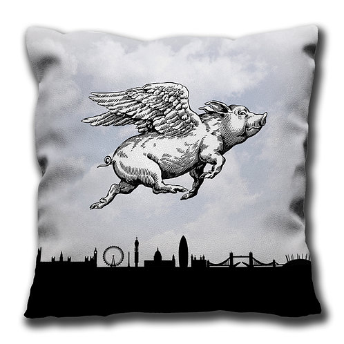 Cushion - Pigs Can Fly - looking right